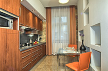 Residence Rybna one-bedroom apartment kitchen