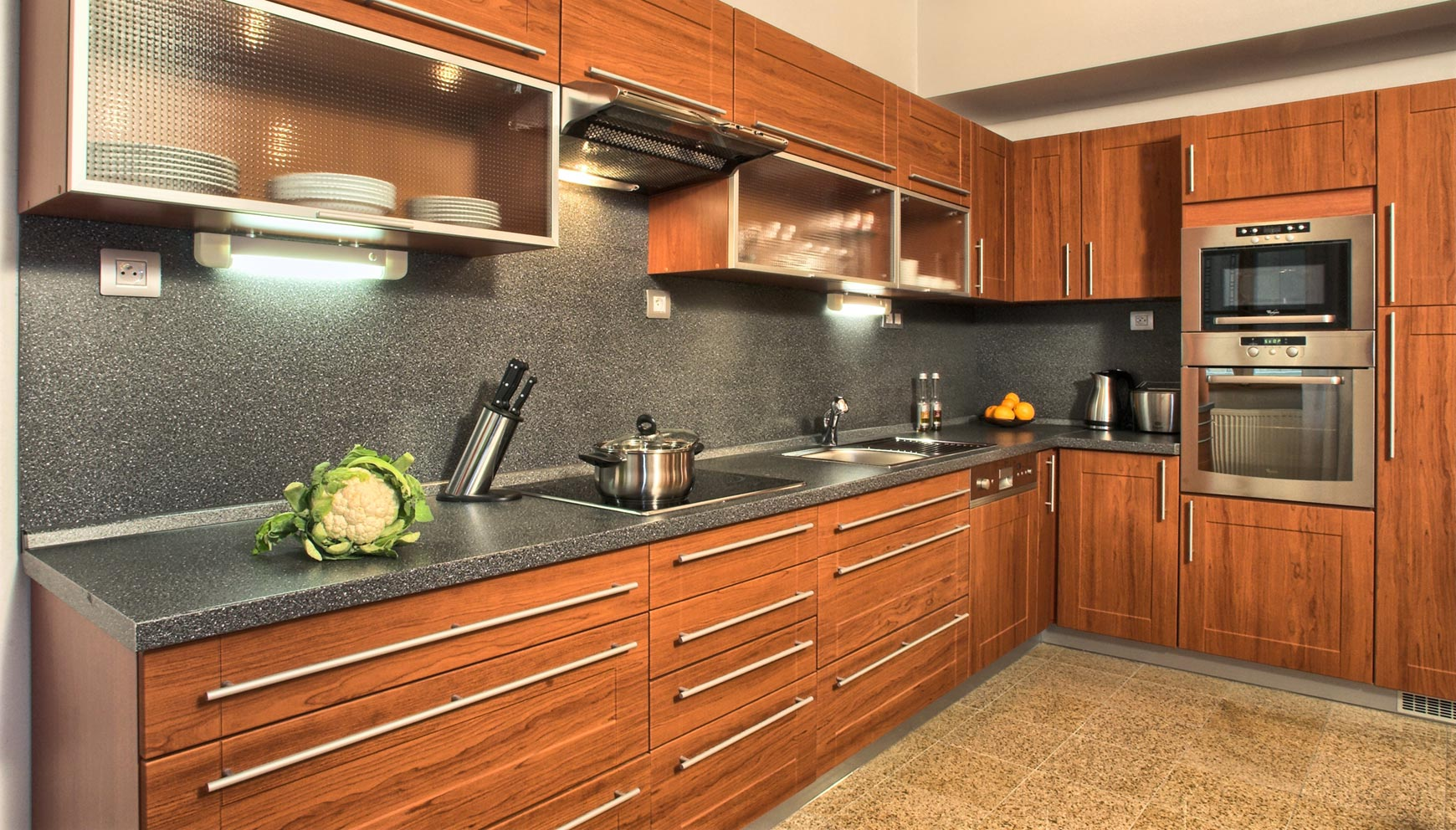 Kitchen in a two bedroom apartment type 3 in Residence Rybna