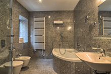 Bath in a two bedroom apartment type 3 in Residence Rybna
